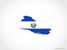 Map of El Salvador - Flag