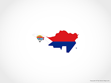 Map of Sint Martin - Flag