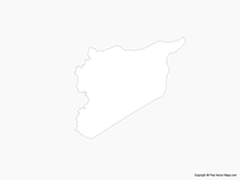Map of Syria - Outline