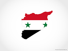 Map of Syria - Flag