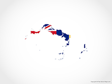 Map of Turks and  Caicos - Flag