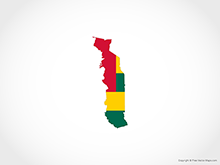 Map of Togo - Flag