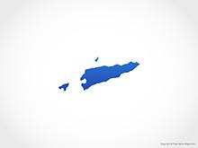 Map of East Timor - Blue
