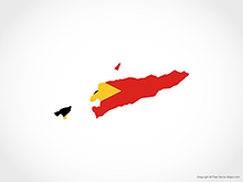 Map of East Timor - Flag