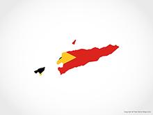 Map of East Timor - Flag