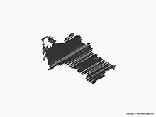 Map of Turkmenistan - Sketch