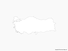 Map of Turkey - Outline