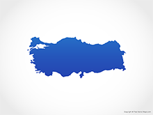 Map of Turkey - Blue