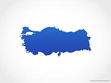 Map of Turkey - Blue