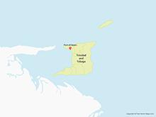 Map of Trinidad and Tobago with Regions