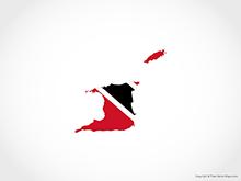Map of Trinidad and Tobago - Flag