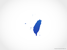Map of Taiwan - Blue