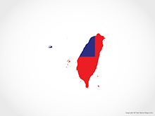Map of Taiwan - Flag