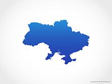 Map of Ukraine - Blue