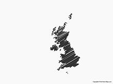 Map of United Kingdom - Sketch