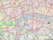 Map of London - Downtown
