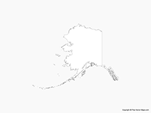 Map of Alaska - Outline