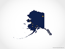 Map of Alaska - Flag