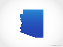 Map of Arizona - Blue