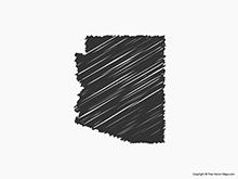 Map of Arizona - Sketch