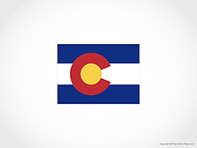 Map of Colorado - Flag