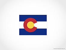 Map of Colorado - Flag