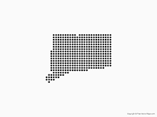 Map of Connecticut - Dots