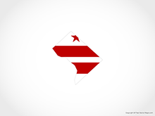 Map of District of Columbia - Flag