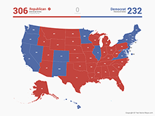 Free Vector Map of United States Electoral Votes