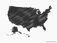 Map of United States of America - Sketch