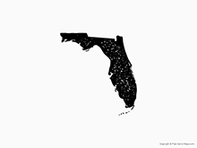 Map of Florida - Stamp
