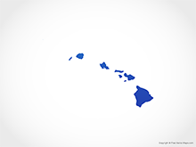 Map of Hawaii - Blue
