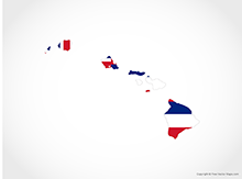 Map of Hawaii - Flag
