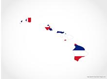 Map of Hawaii - Flag