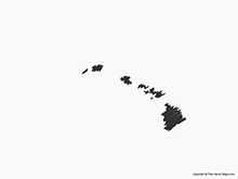 Map of Hawaii - Sketch