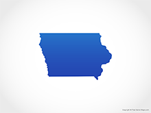 Map of Iowa - Blue