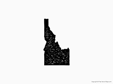 Map of Idaho - Stamp