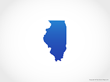 Map of Illinois - Blue