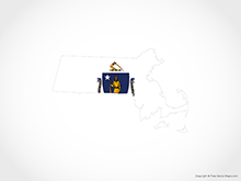 Map of Massachusetts - Flag