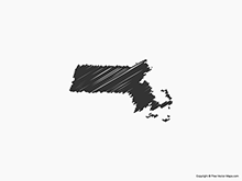 Map of Massachusetts - Sketch