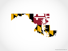 Map of Maryland - Flag