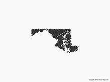 Map of Maryland - Sketch