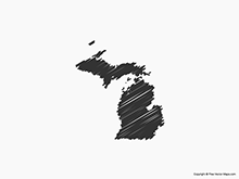 Map of Michigan - Sketch