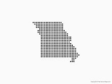 Map of Missouri - Dots