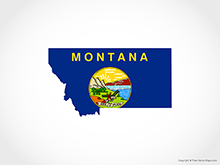 Map of Montana - Flag