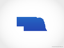 Map of Nebraska - Blue