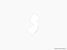 Map of New Jersey - Outline