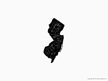 Map of New Jersey - Stamp