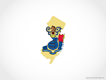 Map of New Jersey - Flag