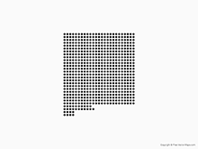 Map of New Mexico - Dots